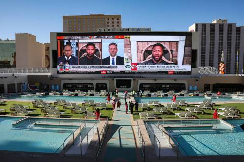 Stadium Swim, open year-round, at Circa in Las Vegas, Wednesday, Oct. 28, 2020. (Rachel Aston/L ...