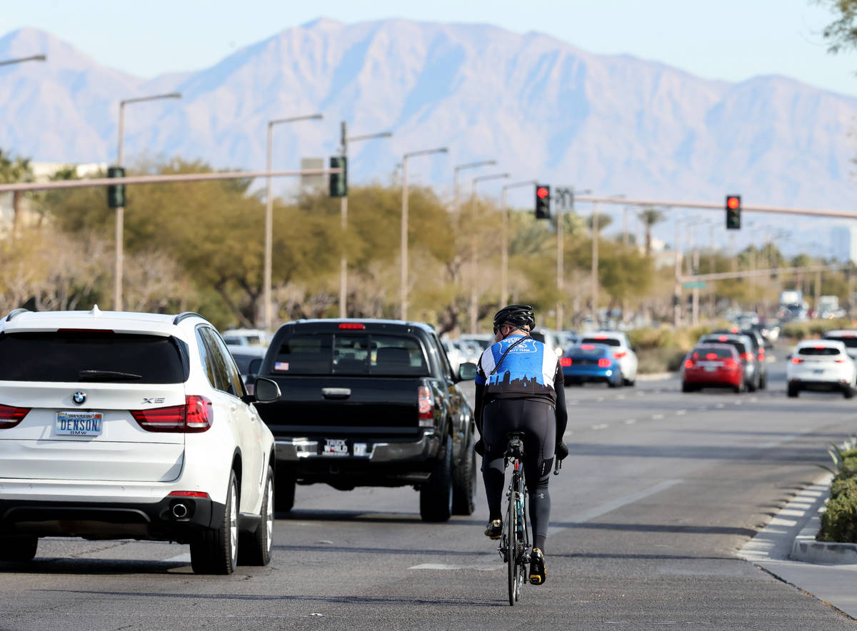 Sgt. Michael Campbell, a traffic sergeant with the Clark County School District Police Departme ...