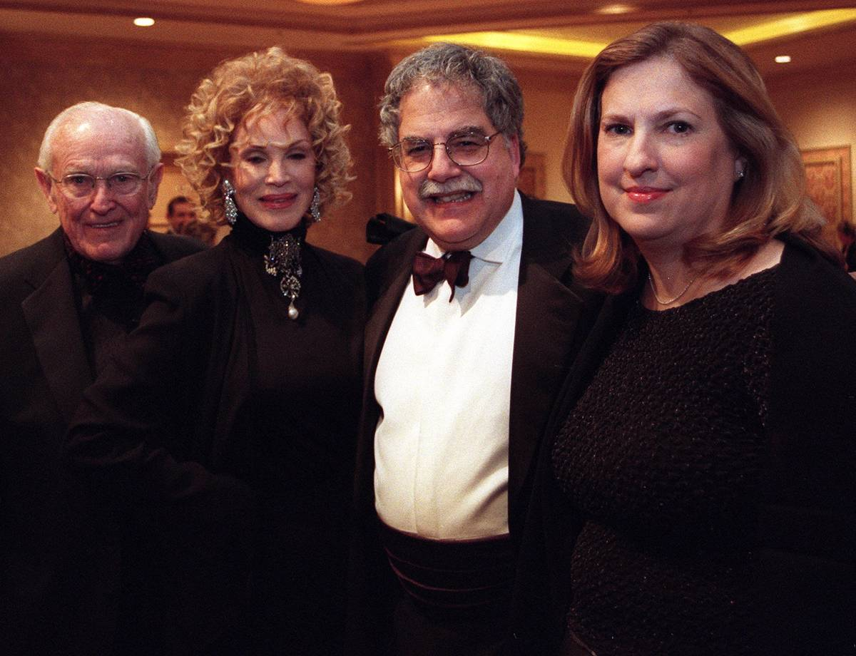 Jackie Gaughan, left, Phyllis McGuire, Jeff Zucker and Carol Zucker attend the Man of The Year ...