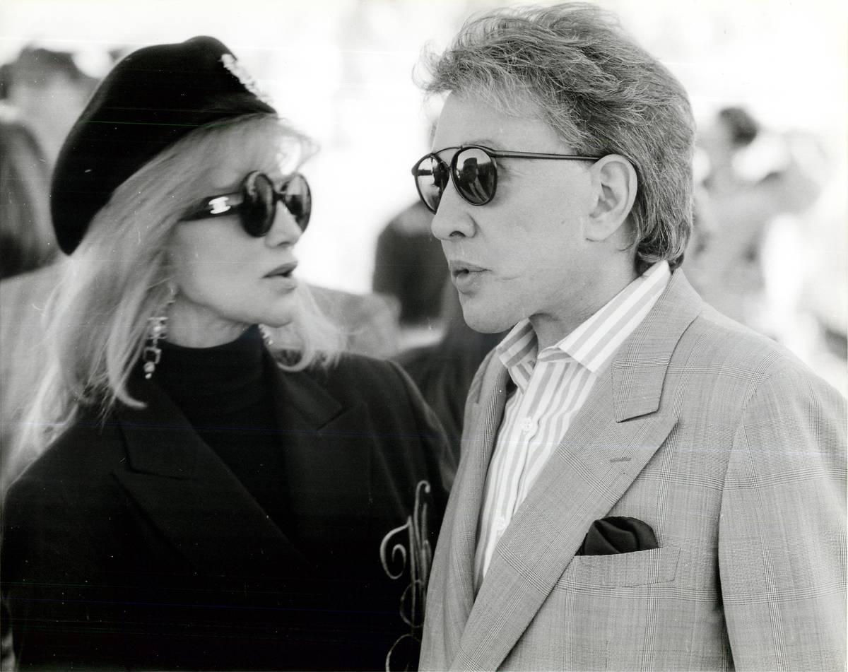 Phyllis McGuire with casino owner Bob Stupak on Nov. 4, 1995. (Las Vegas Review-Journal)