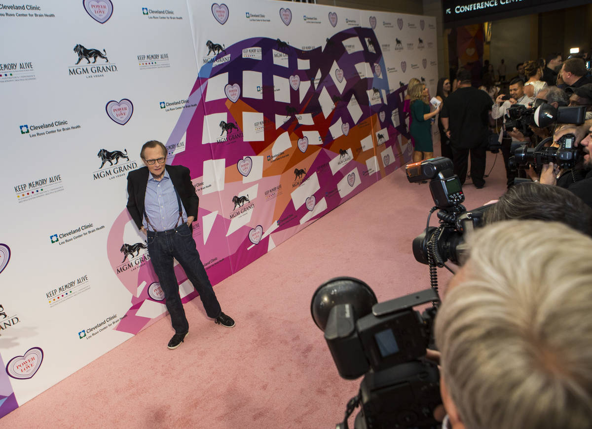 Media personality Larry King on the red carpet before Keep Memory Alive's 21st annual Power of ...