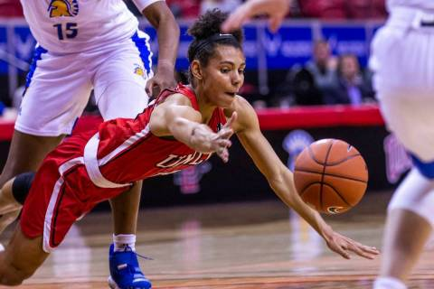 UNLV guard Bailey Thomas, shown in March, had a game-high 29 points Thursday in the Lady Rebels ...
