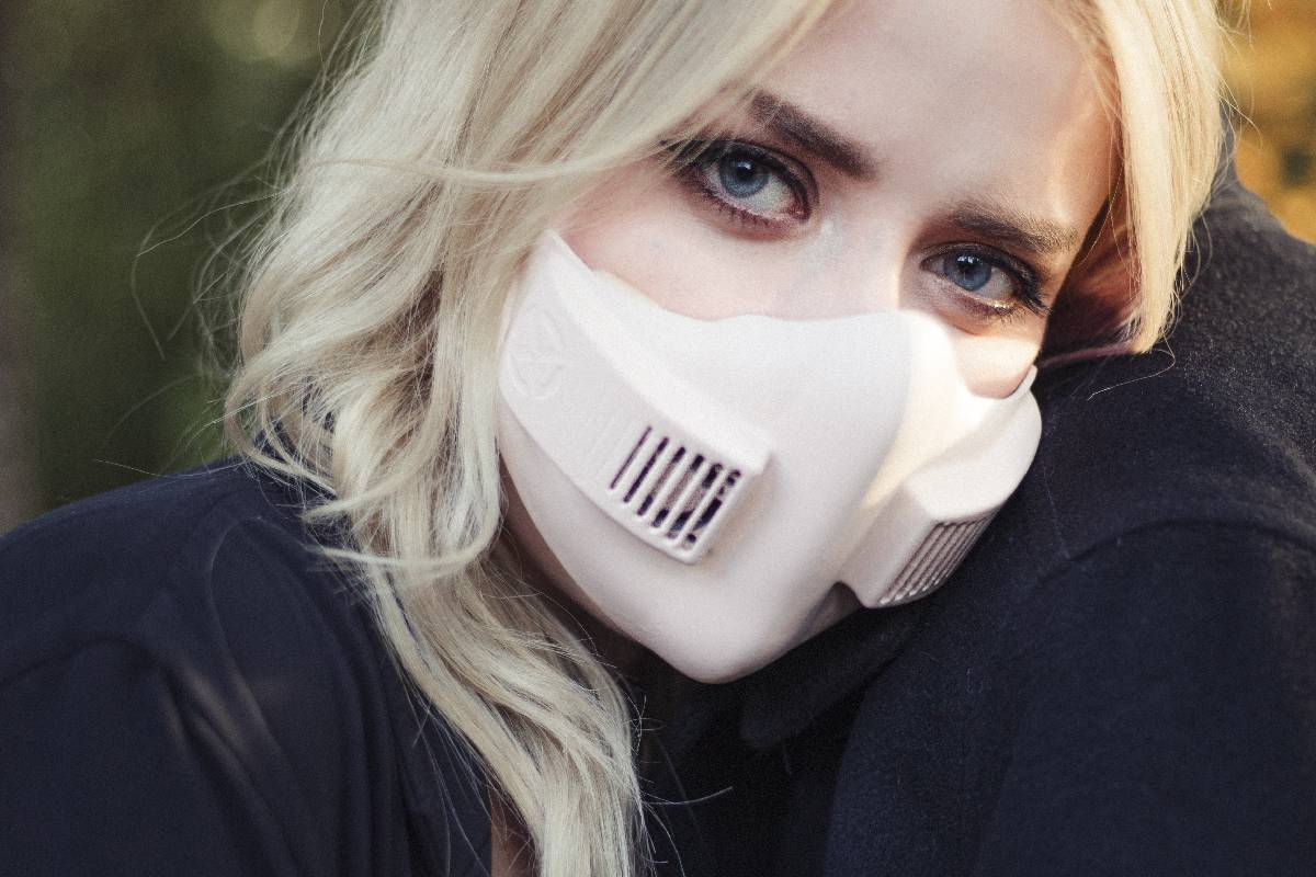 The xHale mask is meant to suit people with breathing conditions, and includes two fans: one fo ...