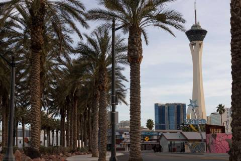 The Las Vegas high temperature is expected to be about 56 on Friday, Jan. 1, 2021, according to ...