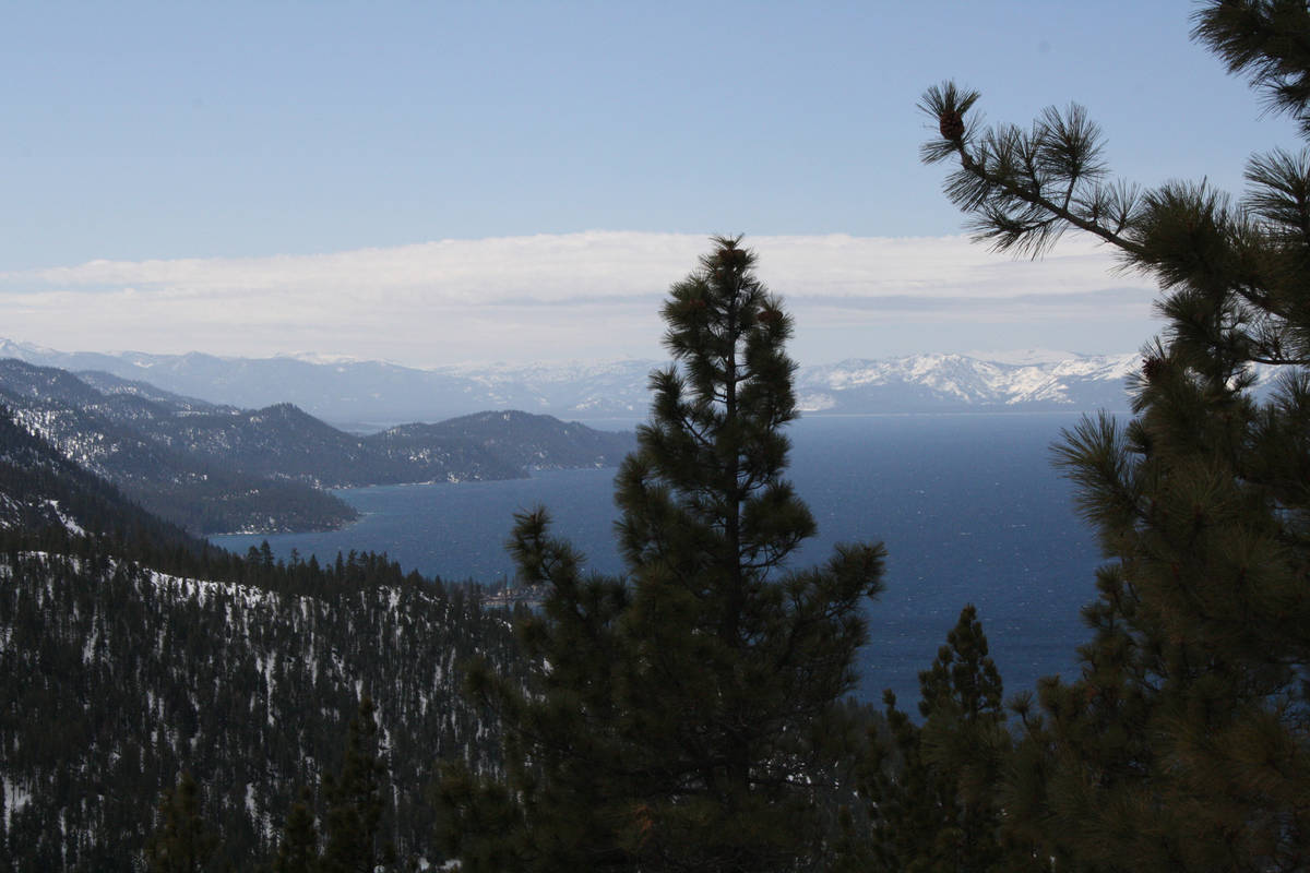 The view of Lake Tahoe from Nevada's Diamond Peak Resort. (Deborah Wall/Las Vegas Review-Journal)