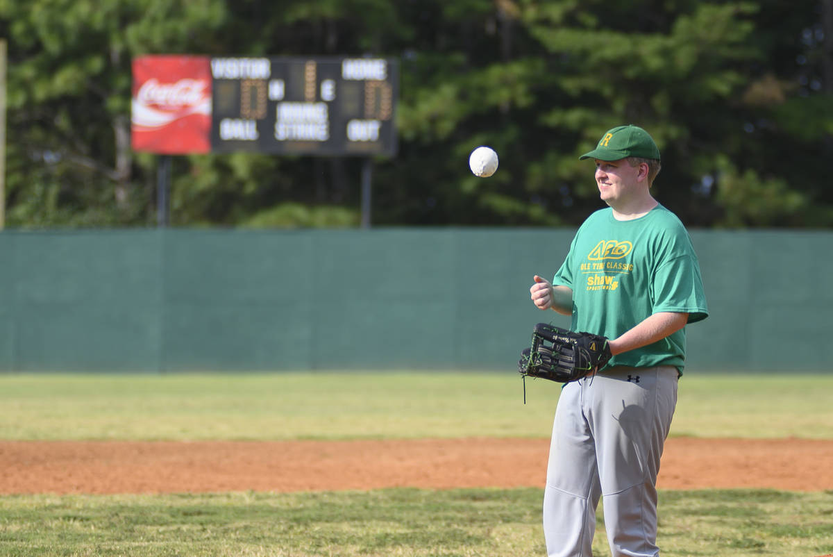 Taylor Duncan prepares to pitch in an Alternative Baseball Organization game. Duncan plans for ...
