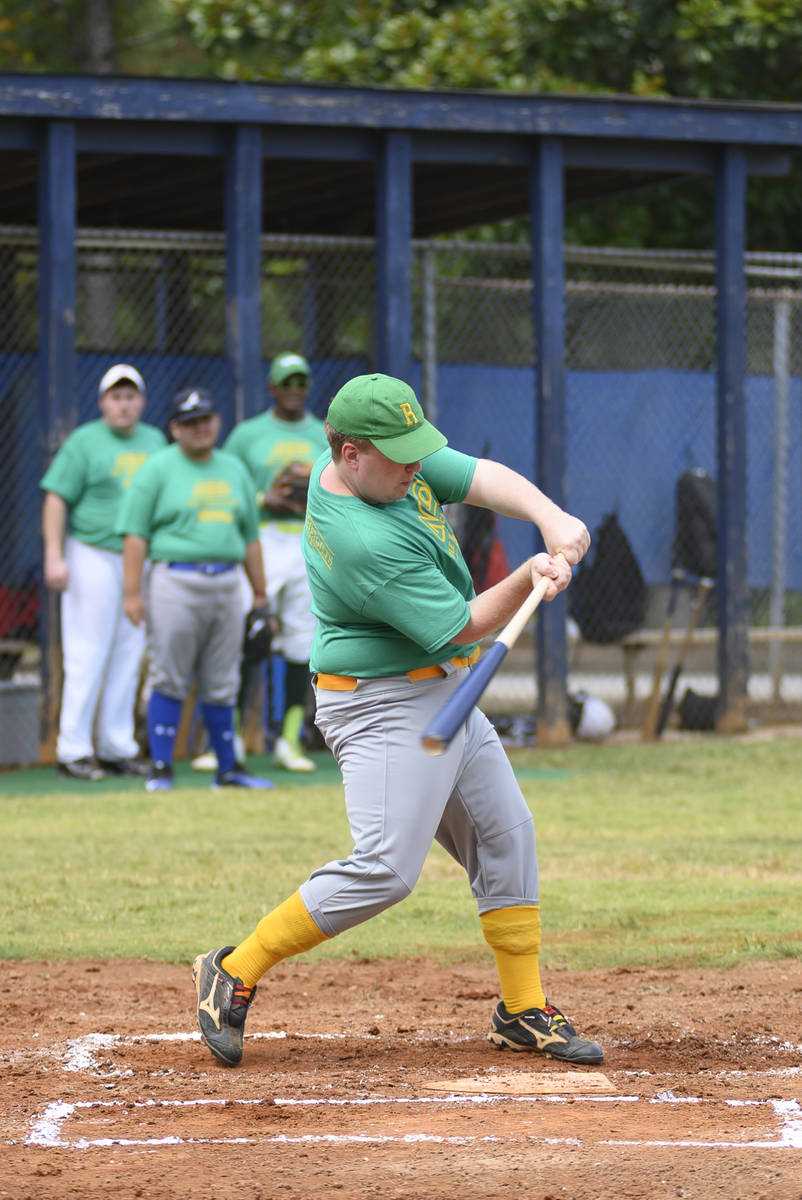 Taylor Duncan takes a swing in an Alternative Baseball Organization game. Duncan plans for the ...