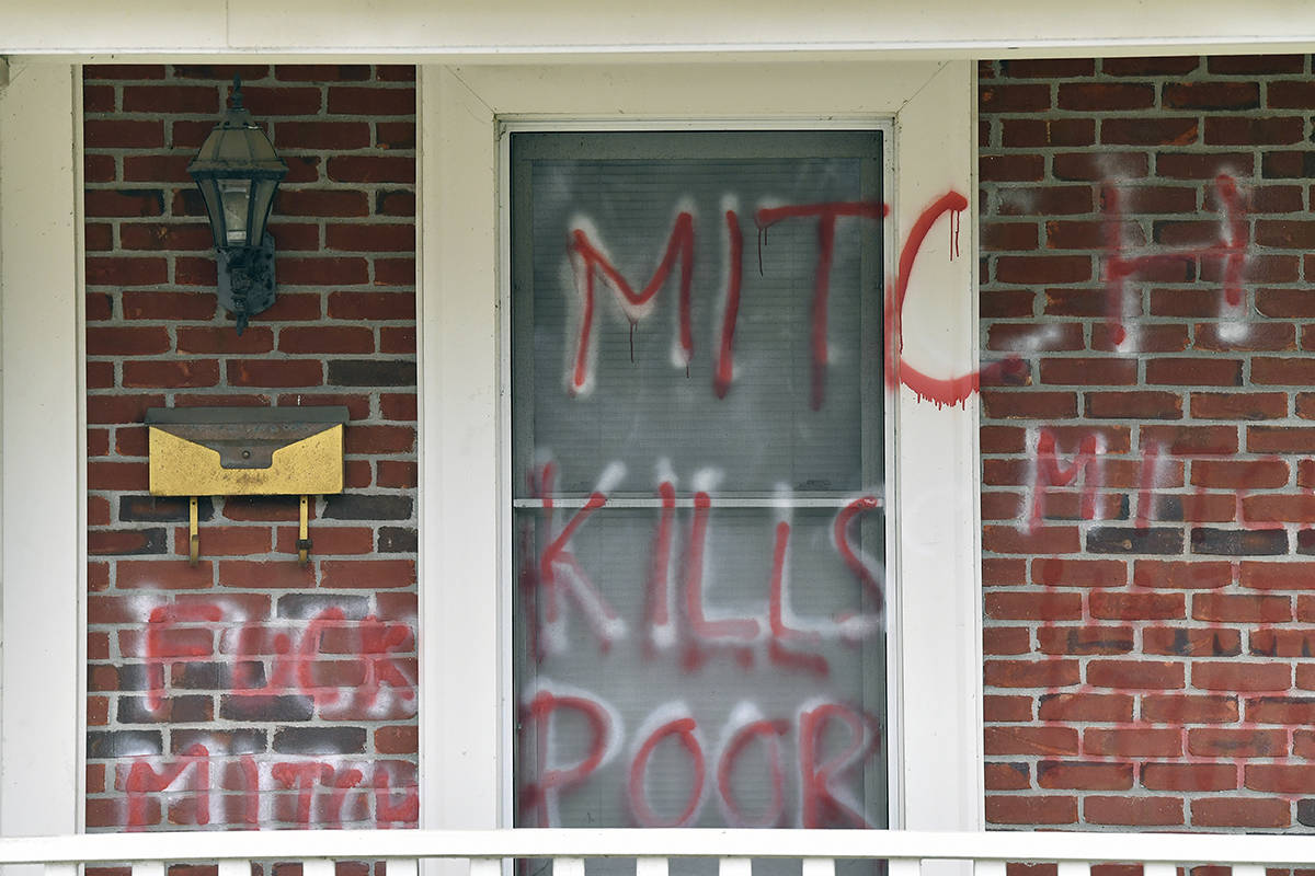 Pelosi, McConnell homes vandalized after $2,000 relief ...