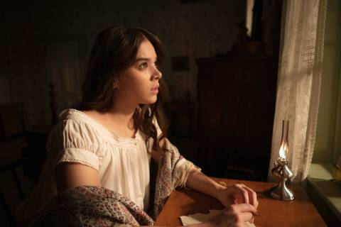 "Hailee Steinfeld in season two of ""Dickinson."" (Apple TV+)"