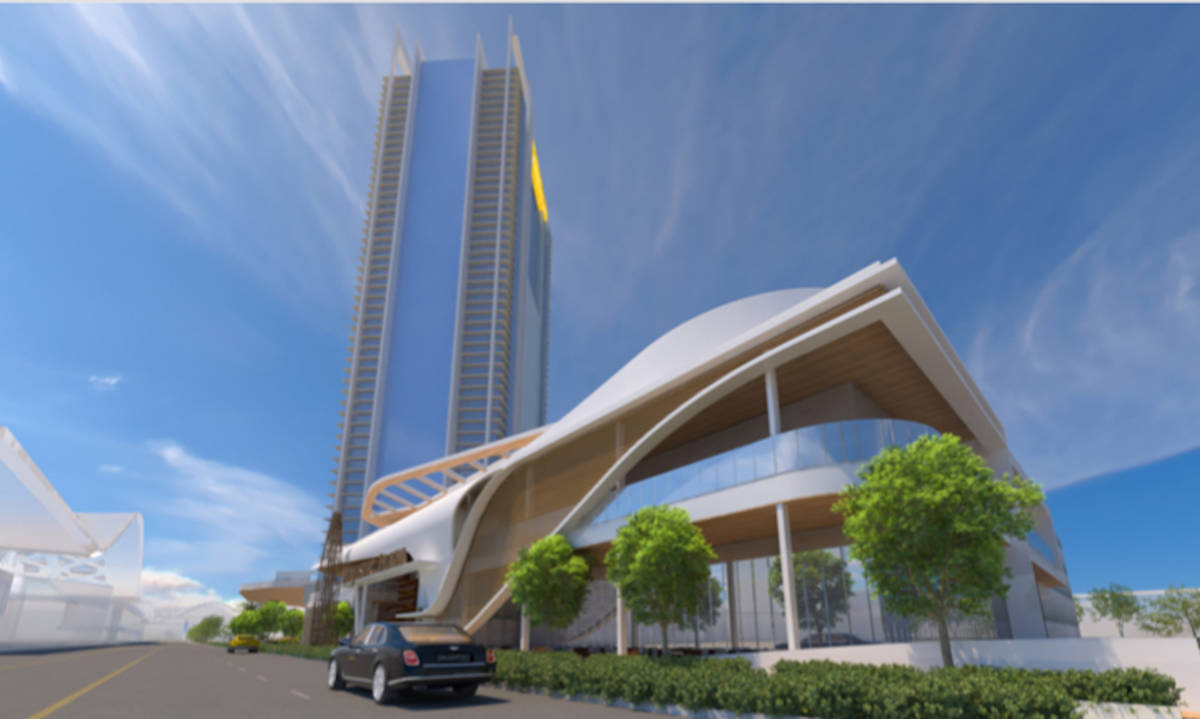 Developer Lorenzo Doumani expects to start building Majestic Las Vegas, a rendering of which is ...