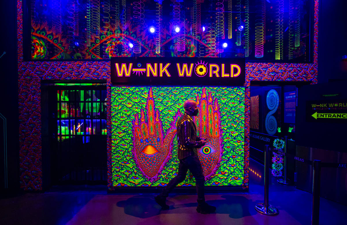 Chris Wink, co-founder of the Blue Man Group and director of content at Area15, gives a a tour ...