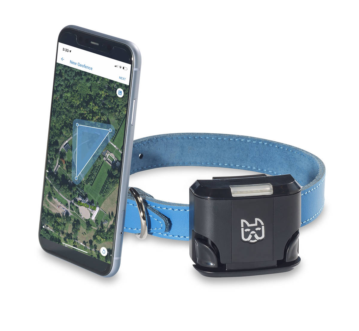 The Wagz Freedom Smart Dog Collar allows you to set boundaries with an app. (Wagz)