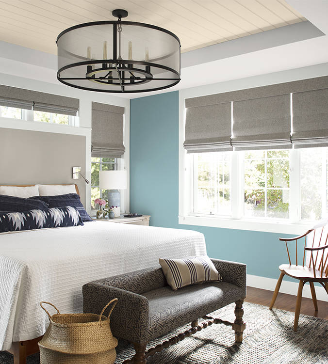 Benjamin Moore introduced a muted blue-green in Aegean Teal for 2021. (Benjamin Moore)