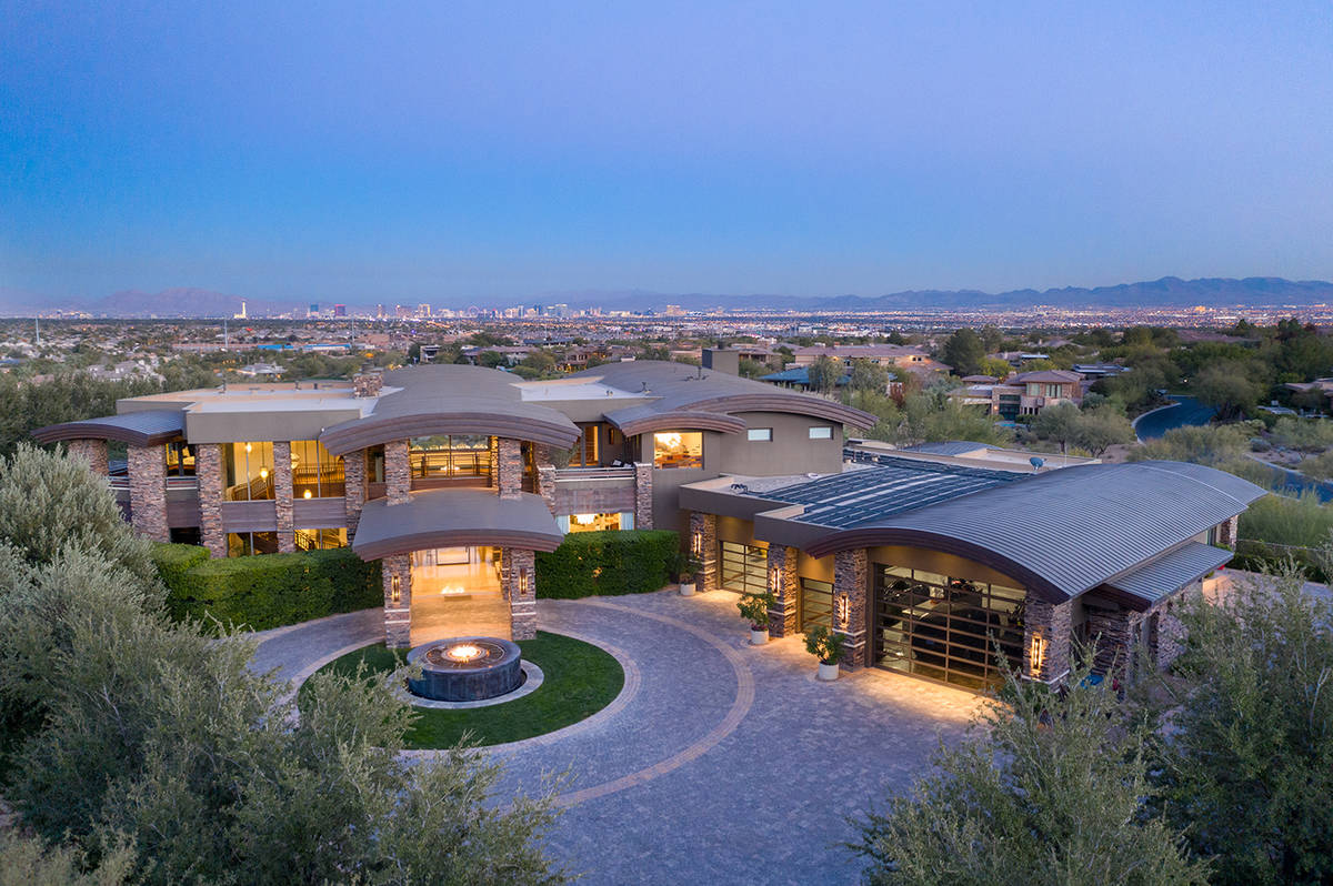 The Summerlin home measures 14,464 square feet and sits on 1.65 acres. It was built in 2009 by ...