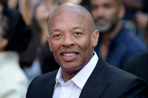 FThis Nov. 27, 2018 file photo shows music producer and entrepreneur Dr. Dre at a hand and foot ...