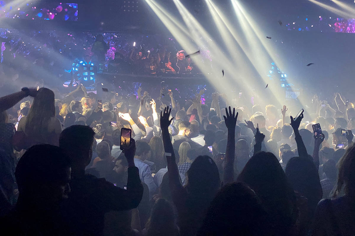 Tiesto performs for CES conventioneers and clubgoers during the DreamlandXR Closing Night Party ...