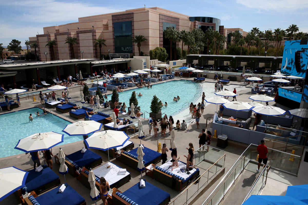 The newly renovated Wet Republic at MGM Grand in Las Vegas Friday, March 6, 2020. (K.M. Cannon/ ...