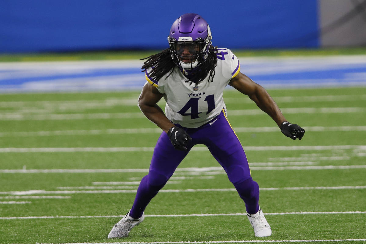 Minnesota Vikings free safety Anthony Harris plays during the first half of an NFL football gam ...