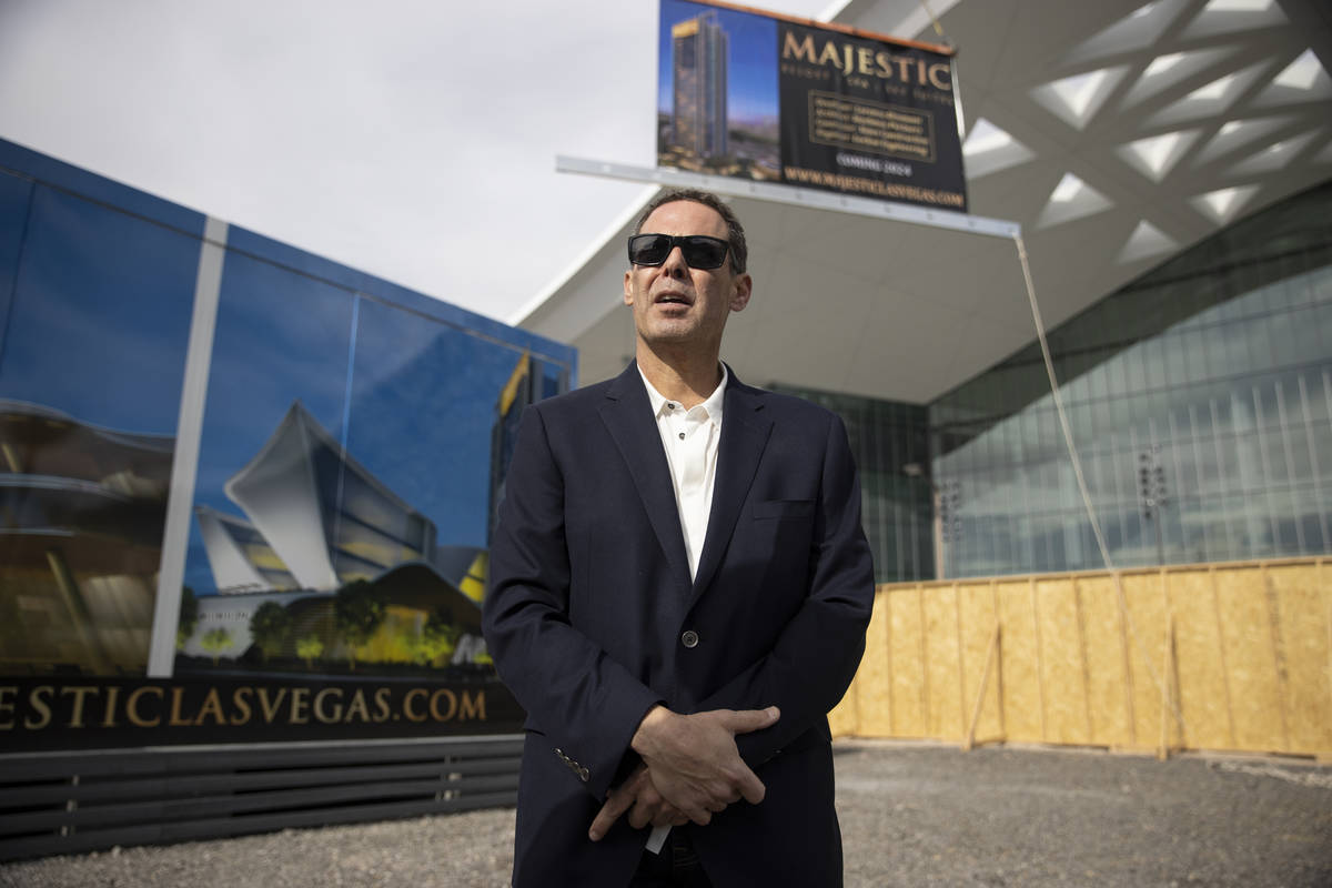 Developer Lorenzo Doumani speaks after a news conference regarding the Majestic Las Vegas resor ...