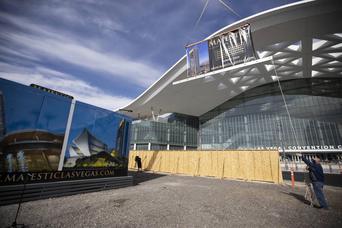 The Majestic Las Vegas resort project site, 305 Convention Center Drive, in Las Vegas, on Wedne ...