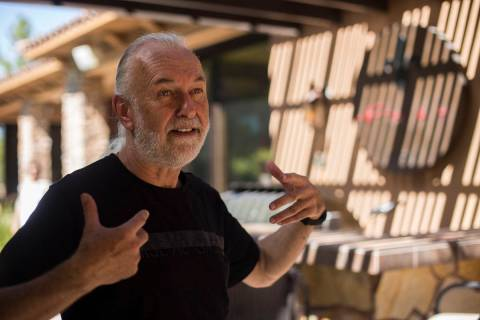 Hubert Keller in 2019, in his backyard kitchen in Las Vegas. (Rachel Aston/Las Vegas Review-Jou ...