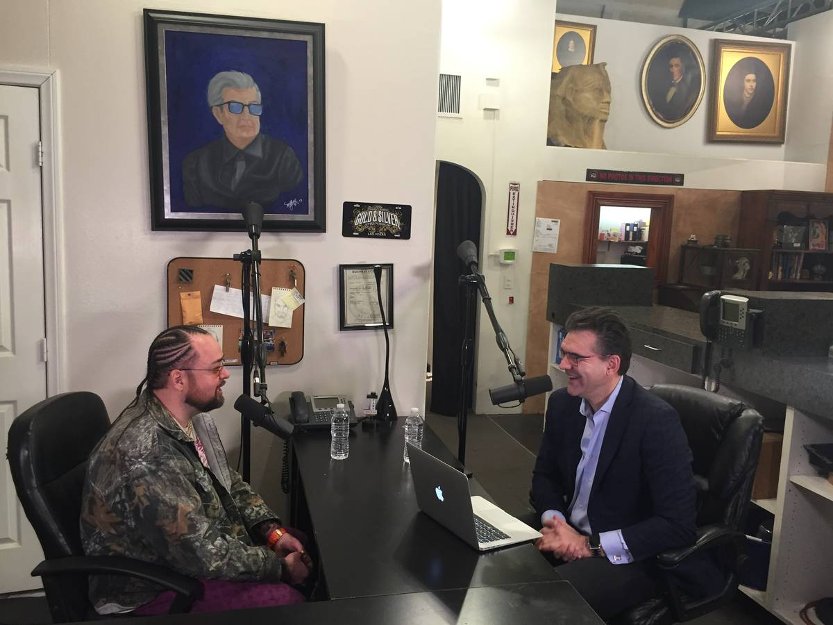 """Austin """"Chumlee"""" Russell is shown during a recording of PodKats! at Gold & Silver Pawn in Las V ..."""
