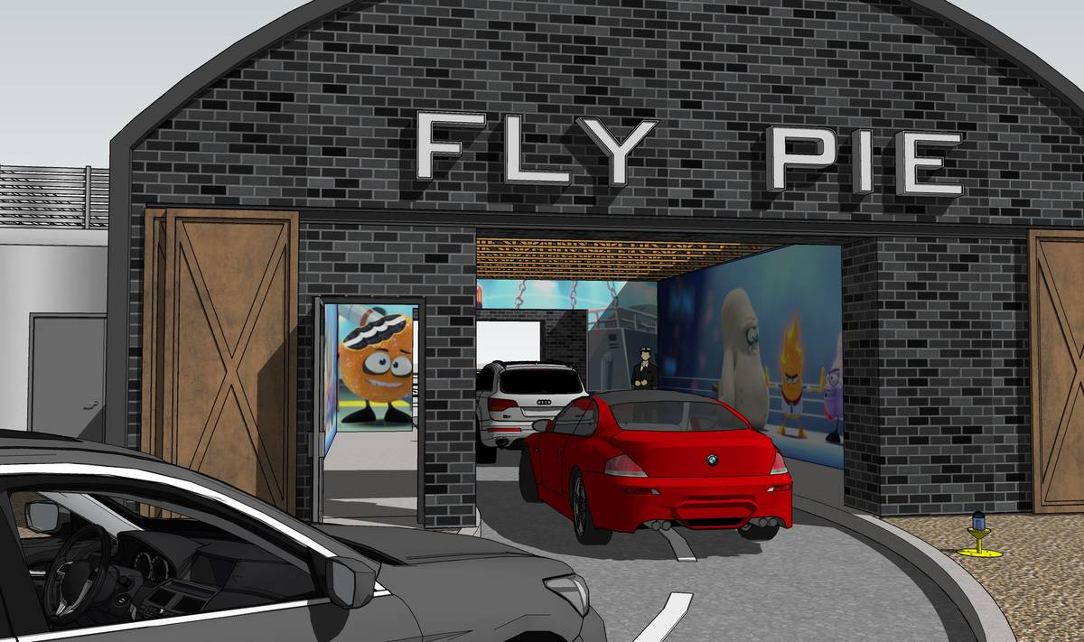 Fly Pie customers will see original animated shorts while in the tunnel. (Fly Pie)