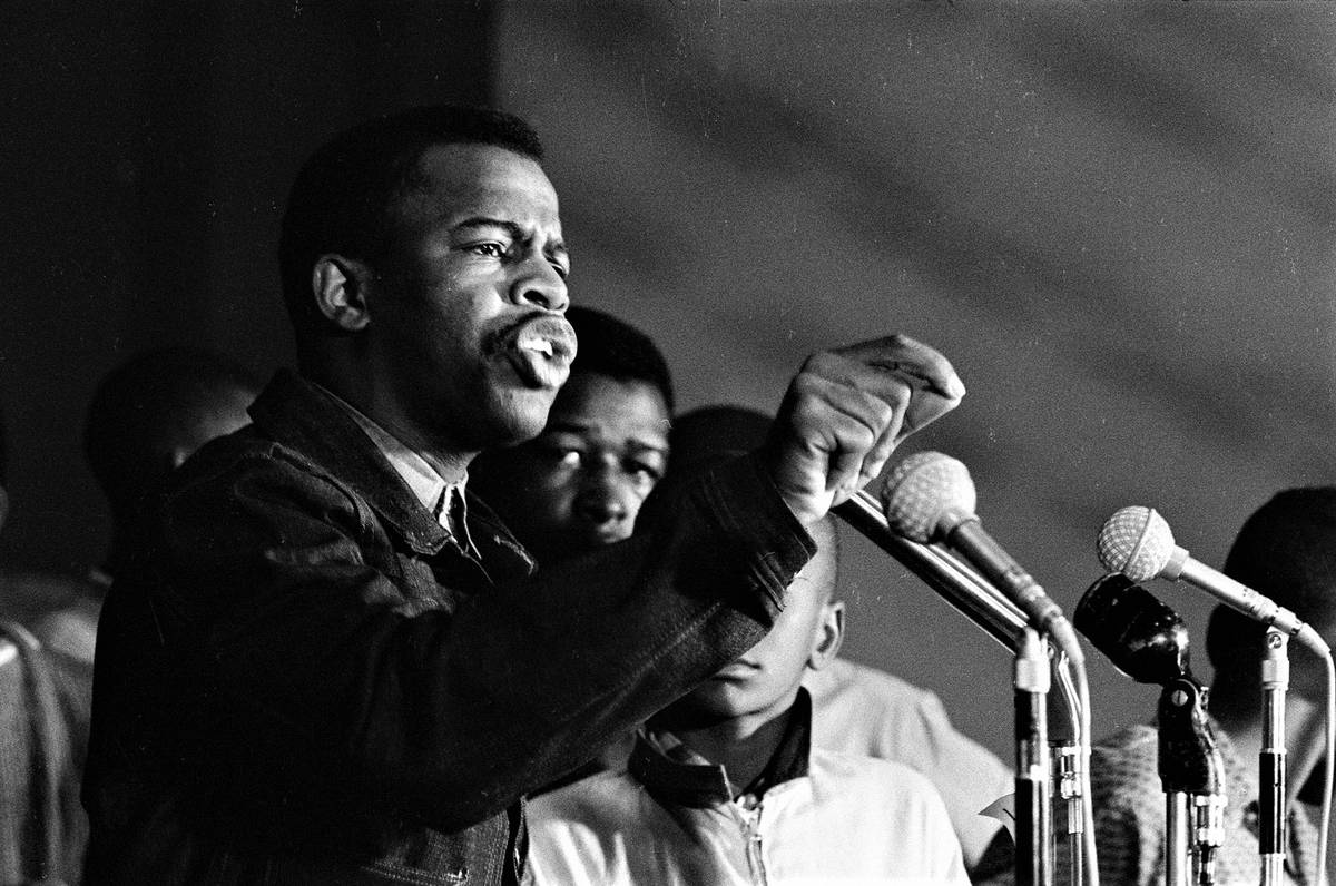 """In """"SNCC,"""" Danny Lyon uses his photographs, like this one of John Lewis, to tell the story of t ..."""