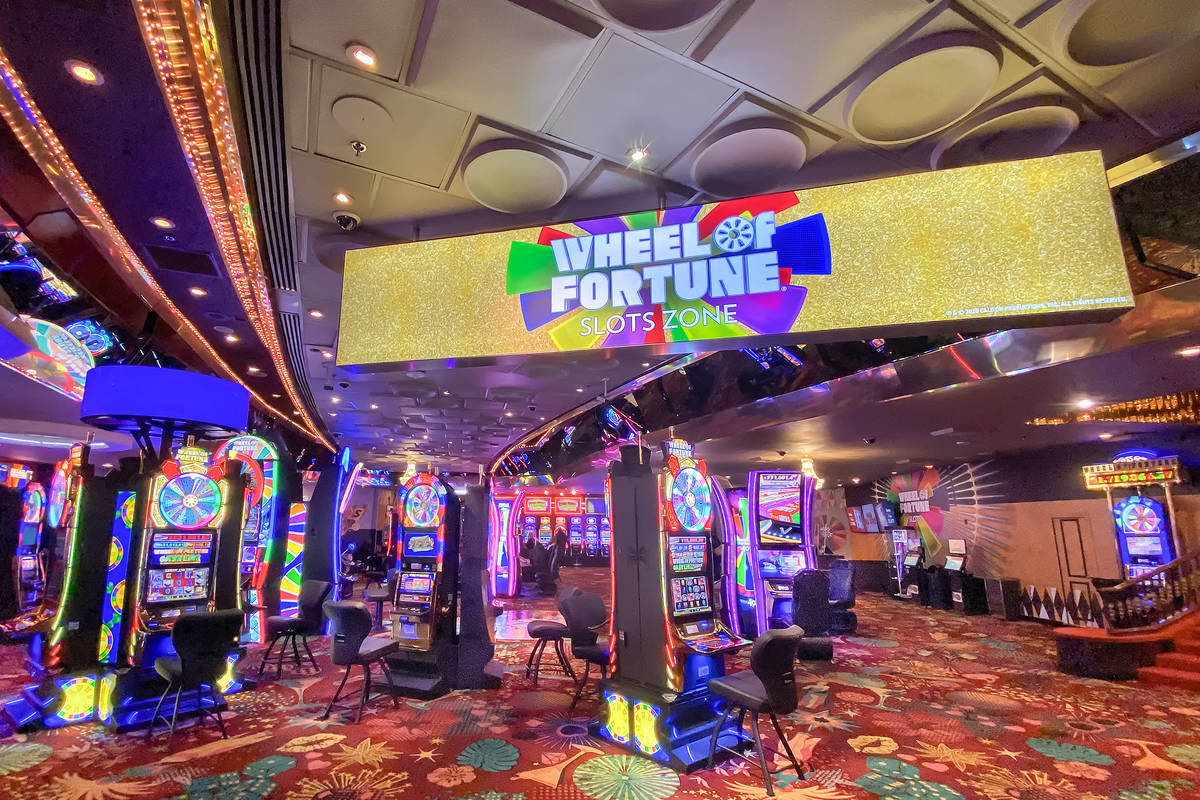 The Wheel of Fortune Slot Zone debuted on Thursday inside the Plaza's gaming floor. (IGT)