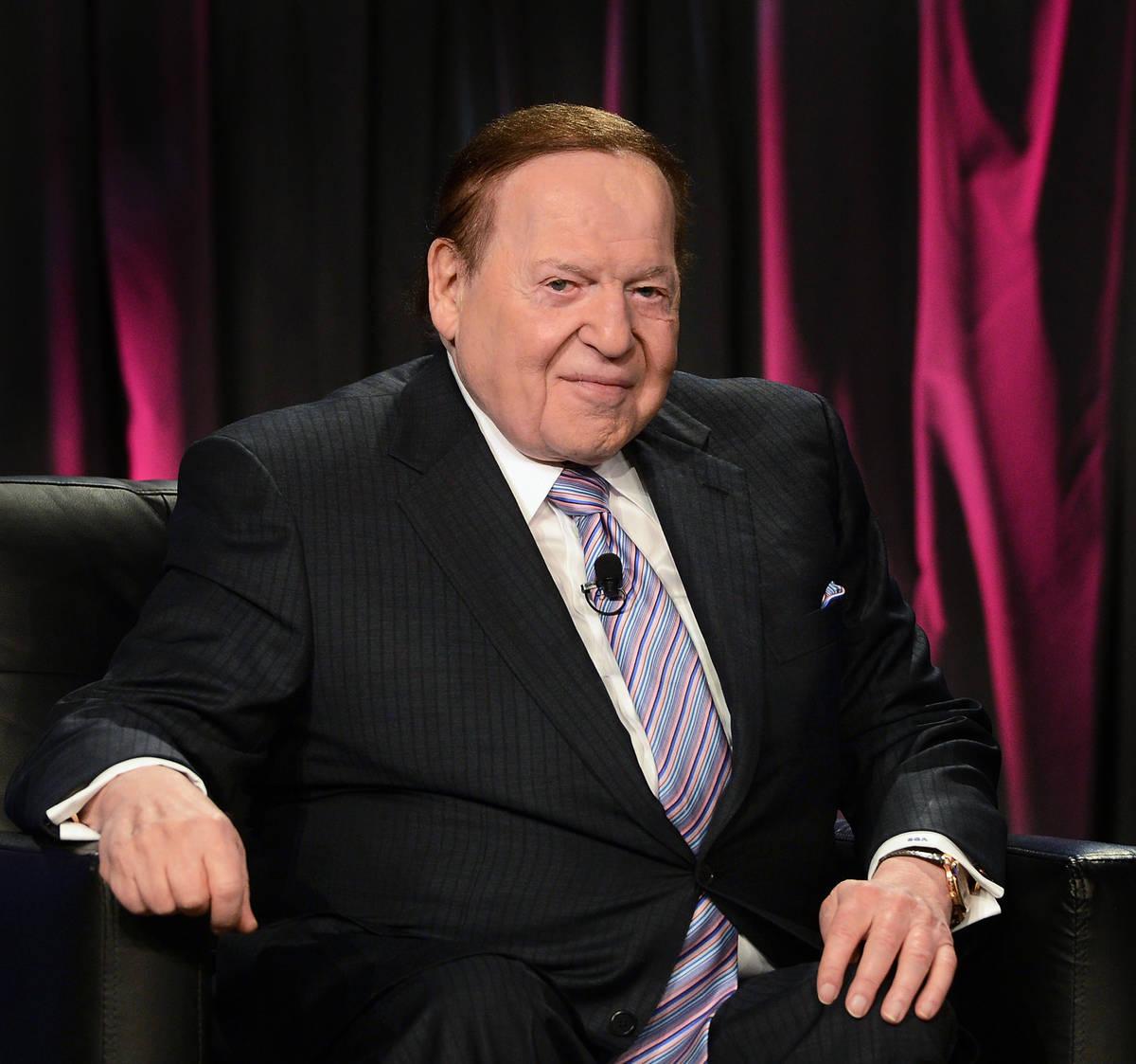 LAS VEGAS, NV - OCTOBER 01: Chairman & CEO Las Vegas Sands Corp., Sheldon Adelson speaks at th ...