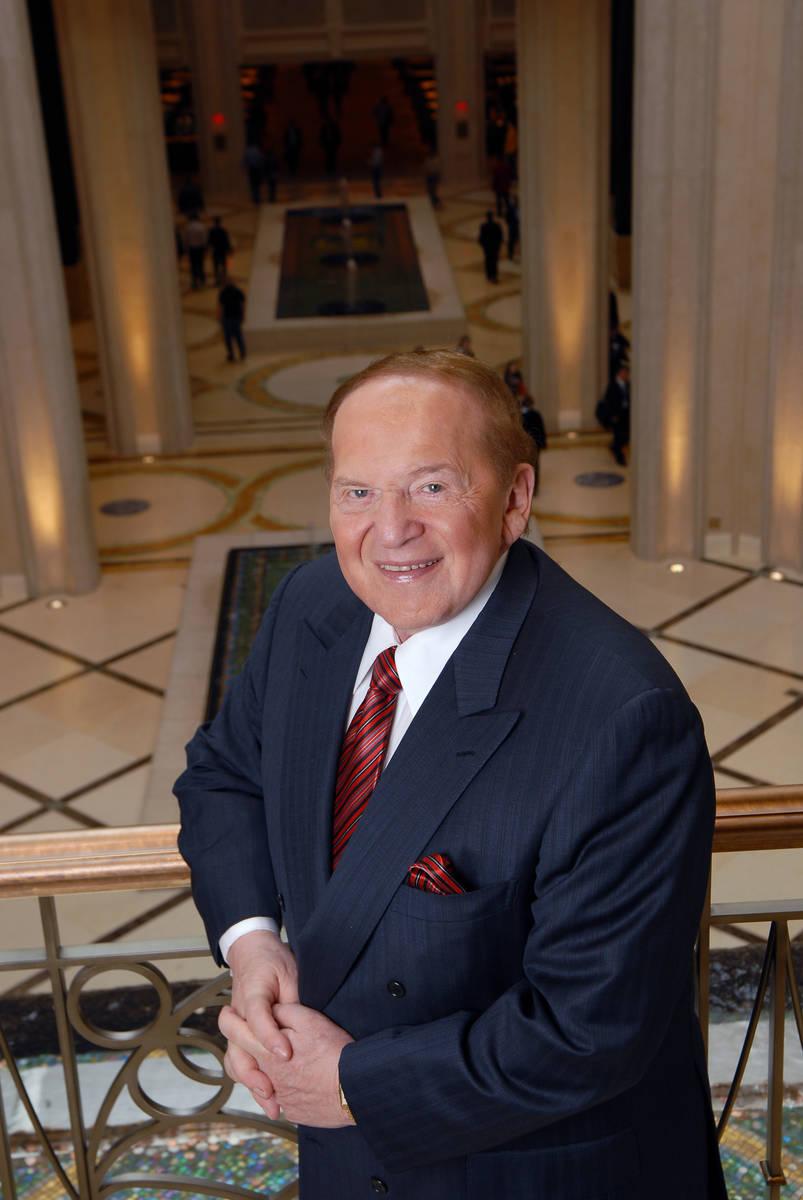 LAS VEGAS, NV - JANUARY 08: Multi-billionaire Sheldon Adelson at The Palazzo Las Vegas, his new ...