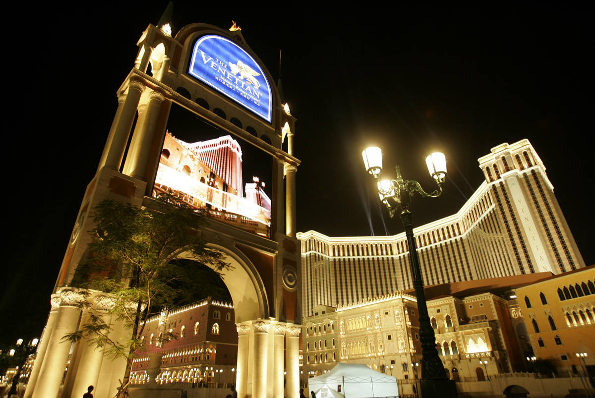 The Venetian Macao is shown in 2007, when it opened with the world's largest casino. (AP Phot ...