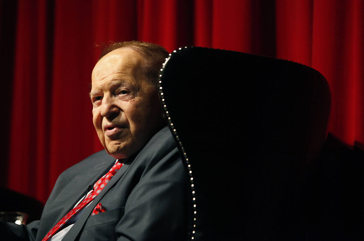 Las Vegas Sands Corp. Chairman and CEO Sheldon Adelson speaks to students at the University of ...