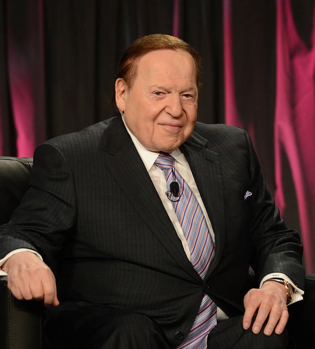LAS VEGAS, NV - OCTOBER 01: Chairman & CEO Las Vegas Sands Corp., Sheldon Adelson speaks a ...