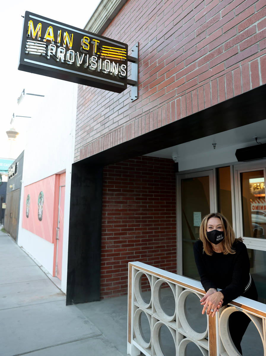 Main St. Provisions owner Kim Owens at her downtown Las Vegas restaurant, Dec. 2, 2020. Owens w ...