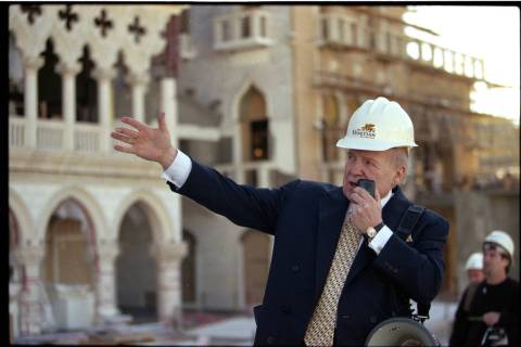 Las Vegas Sands Inc. Chairman and CEO Sheldon Adelson leads media on a tour of The Venetian con ...