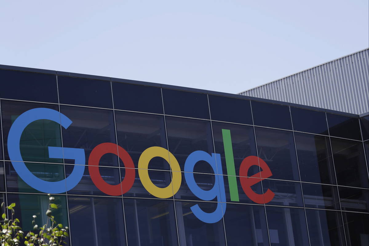 FILE - This July 19, 2016, file photo shows the Google logo at the company's headquarters in Mo ...