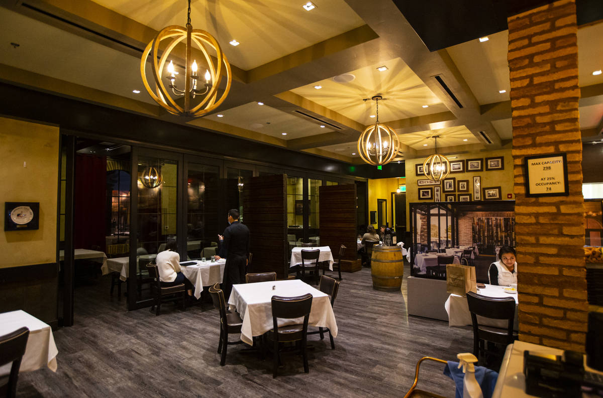 Dining at Nora's Italian Cuisine in Las Vegas and at other restaurants throughout the valley ha ...