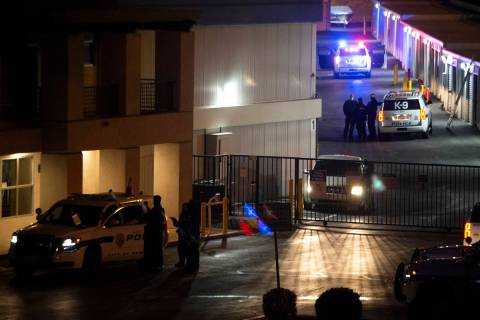 Henderson Police are investigating what their public information officer called a shooting at t ...