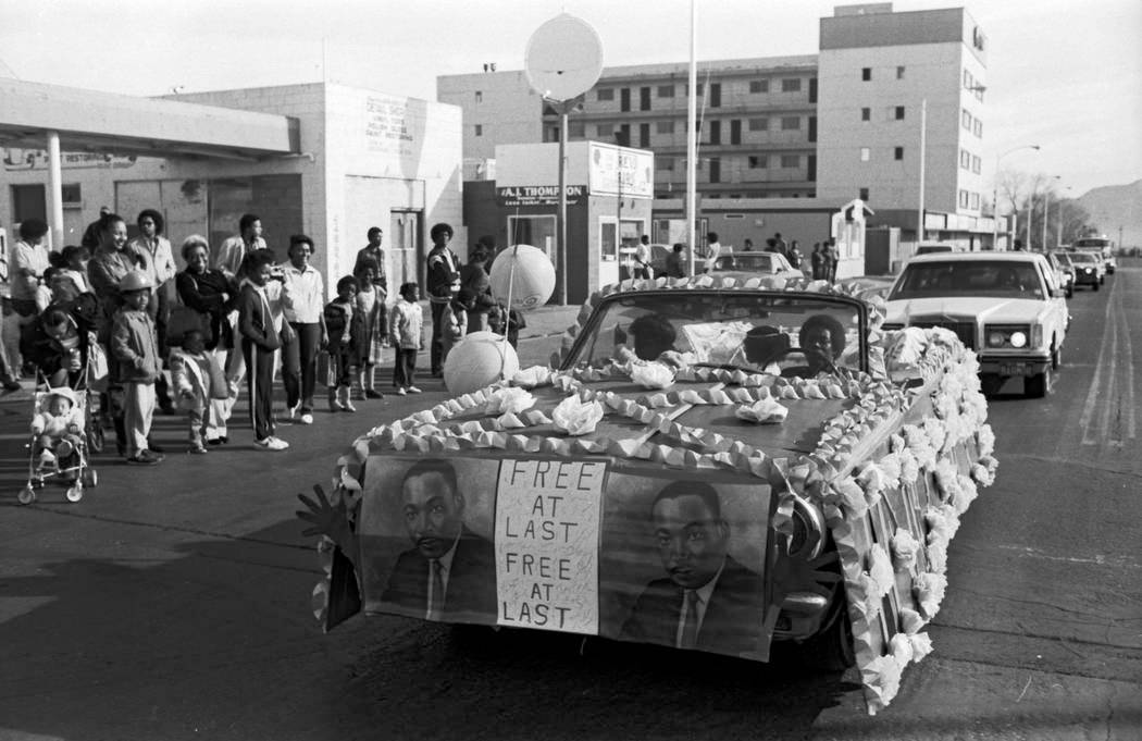 This Jan. 16, 1982, file photo shows a parade on D Street organized by the Kappi xi chapter of ...