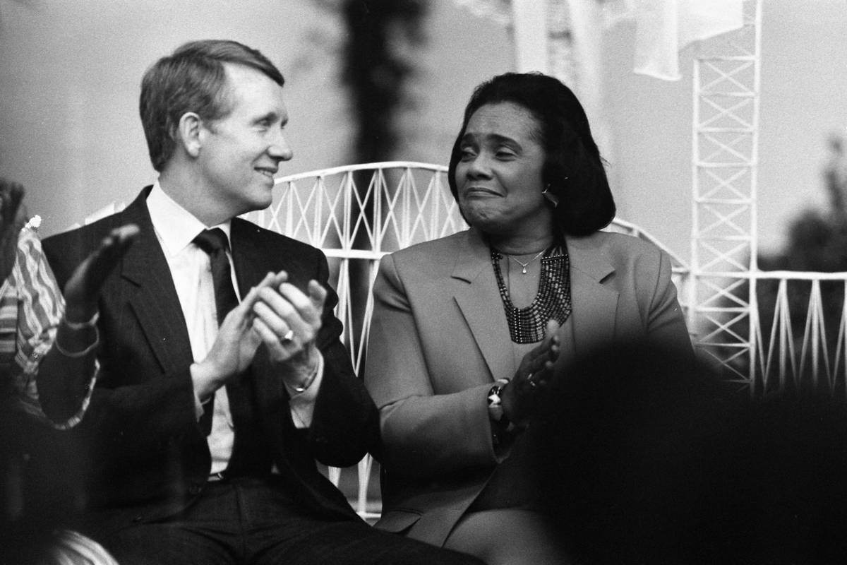 In this 1987 file photo, Coretta Scott King, widow of slain civil rights leader Martin Luther K ...