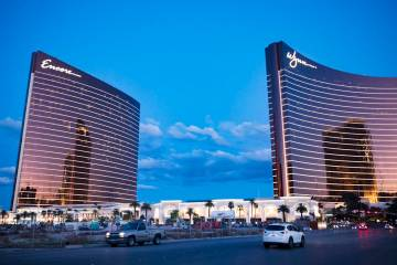 Encore and Wynn in Las Vegas, Monday, March 16, 2020. (Rachel Aston/Las Vegas Review-Journal) @ ...