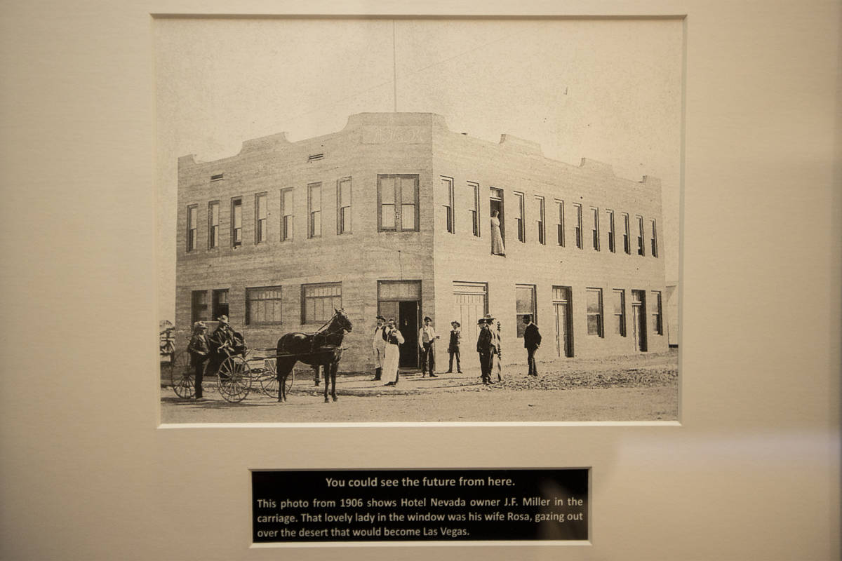 A picture of the former Hotel Nevada inside one of the original rooms of the property now known ...