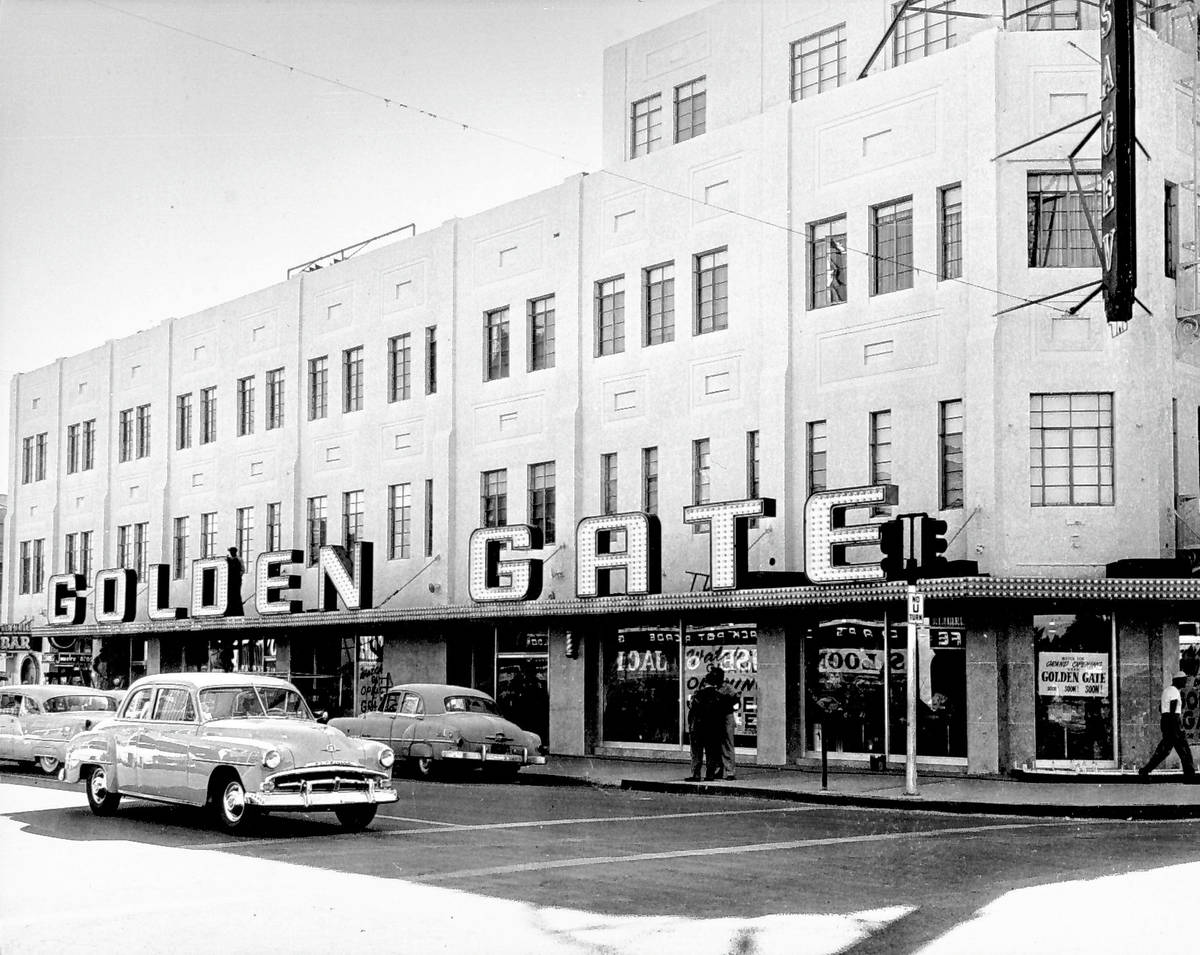 Golden Gate grand opening on the first floor of the Hotel Sal Sagev in 1955. (Golden Gate Hotel ...