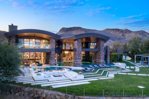 The mansion at 7 Falcon View Court in Las Vegas, seen here, sold for $14.5 million in 2020. (Th ...