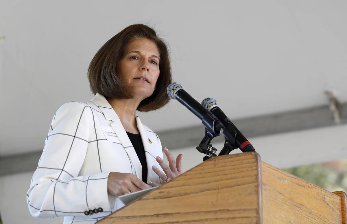 U. S. Sen. Catherine Cortez Masto, D-Nevada, speaks at the 23rd Annual Lake Tahoe Summit at Sou ...