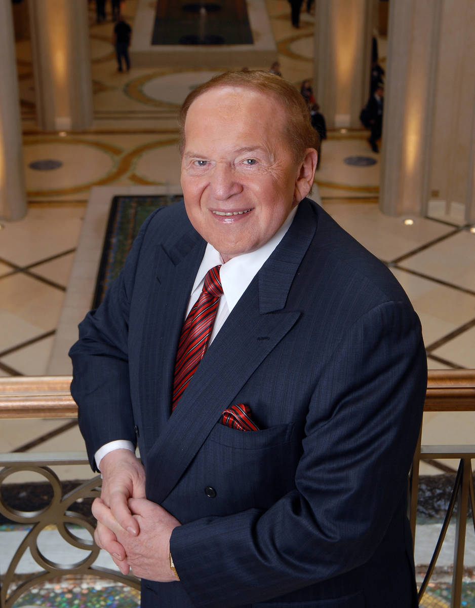 Las Vegas Sands Corp. Chairman and CEO Sheldon Adelson, shown at the Palazzo on Jan. 8, 2008, i ...