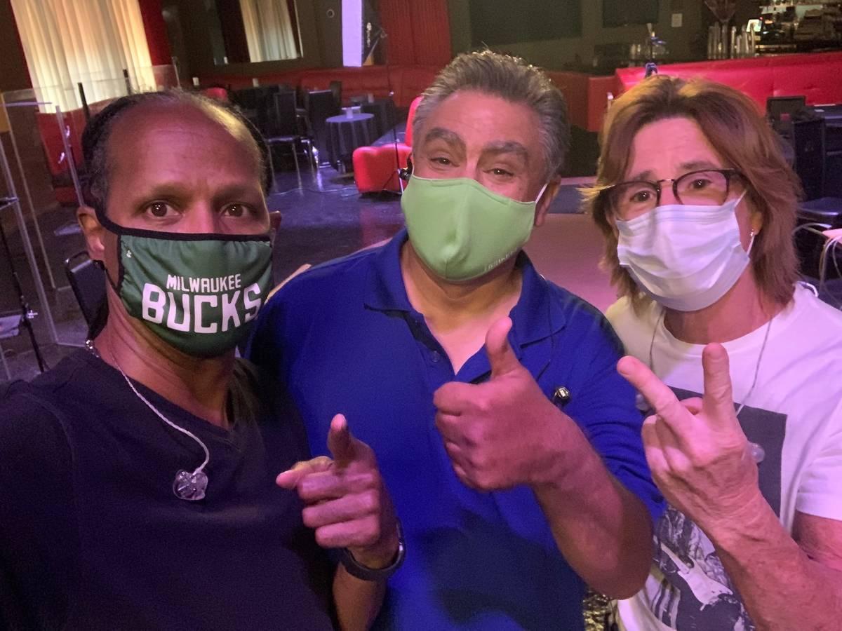 Tyriq Johnson, Lenny Lopez and Tony Davich, from left, of Santa Fe & The Fat City Horns. (Jerry ...
