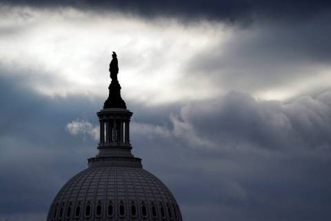 The bronze Statue of Freedom, by Thomas Crawford, is the crowning feature of the dome of the U. ...