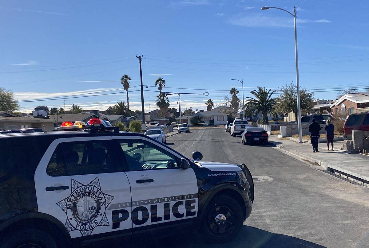 A man was seriously injured in a shooting early Monday, Jan. 18, 2021, in central Las Vegas. La ...